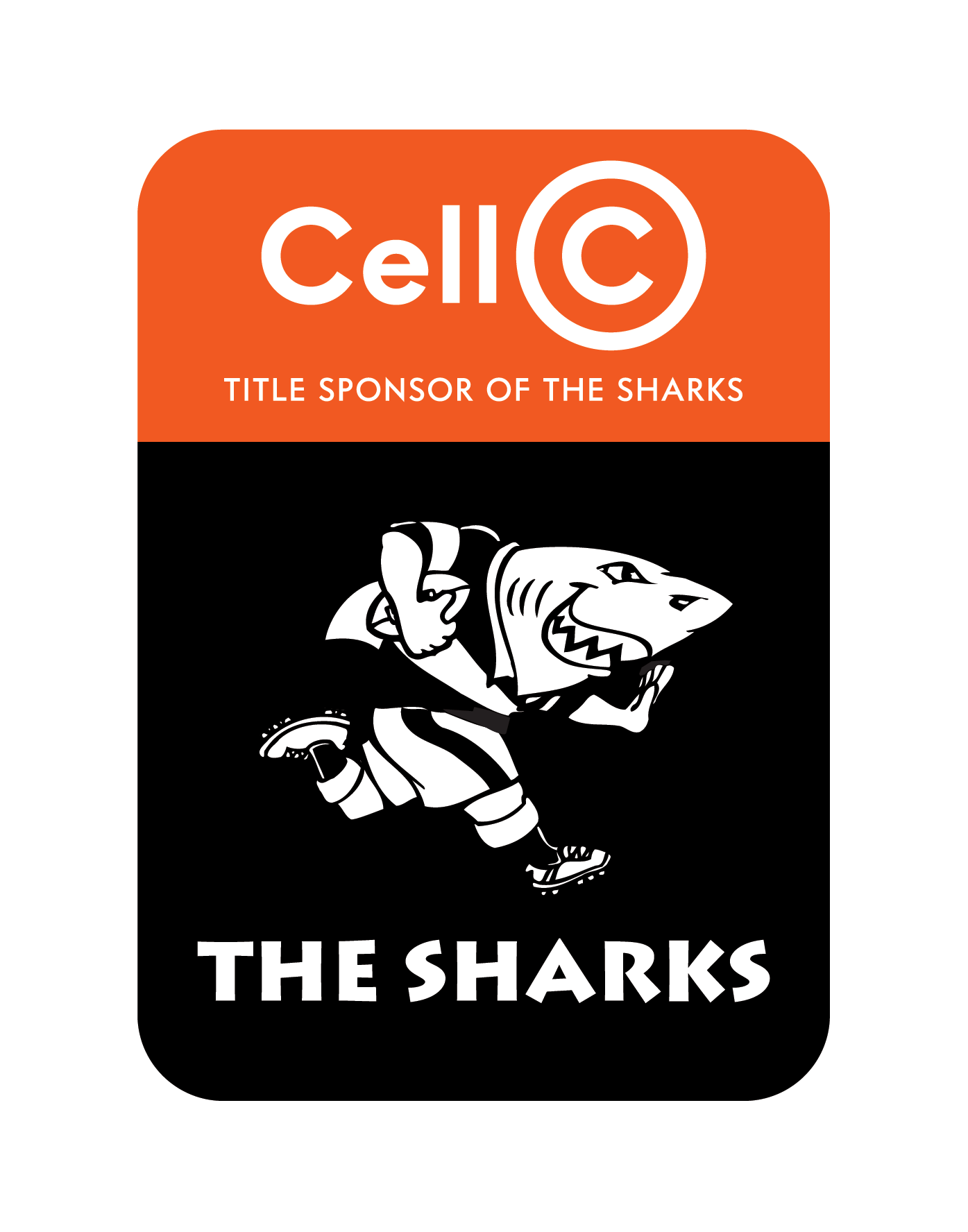 Cell C Sharks Logo Updated 01 Large Decal Decals Stickers Shark Logo