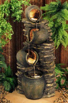 14 Fuentes rusticas piedra para jardin