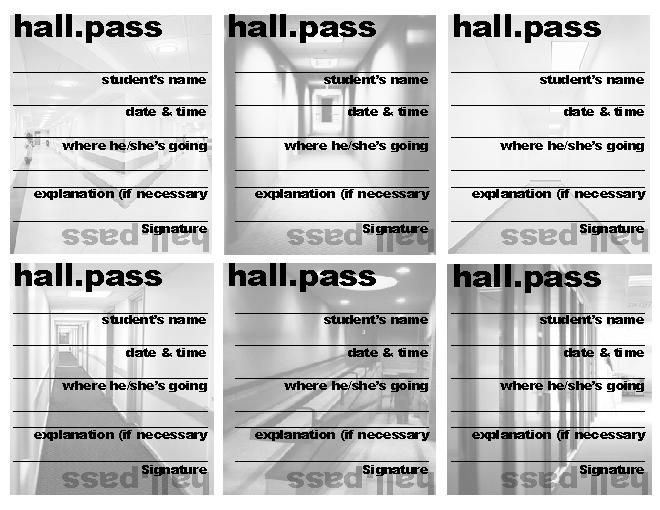 picture relating to Hall Pass Printable identify Printable+Corridor+Pes+for+College students Indeed!! Clroom