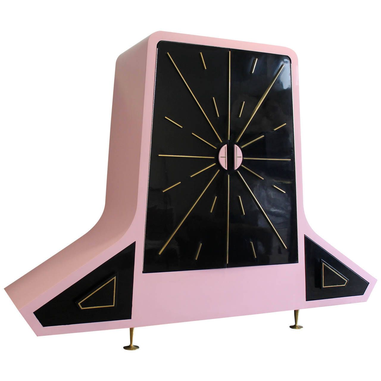 Pink And Black Lacquered Armoire By Eugenio Escudero. Mexico,1950u0027s | See  More Antique