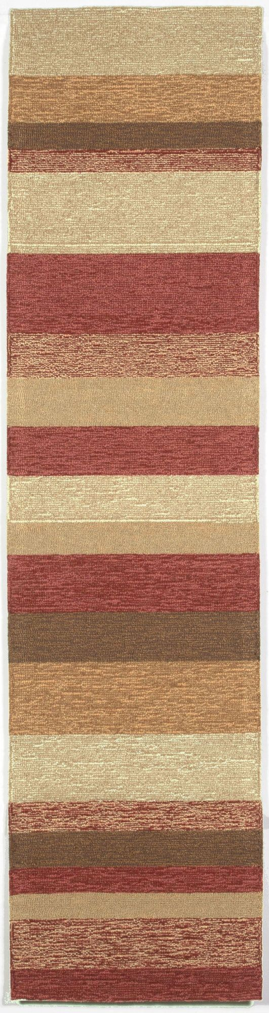 Cali Red Stripe Outdoor Rug