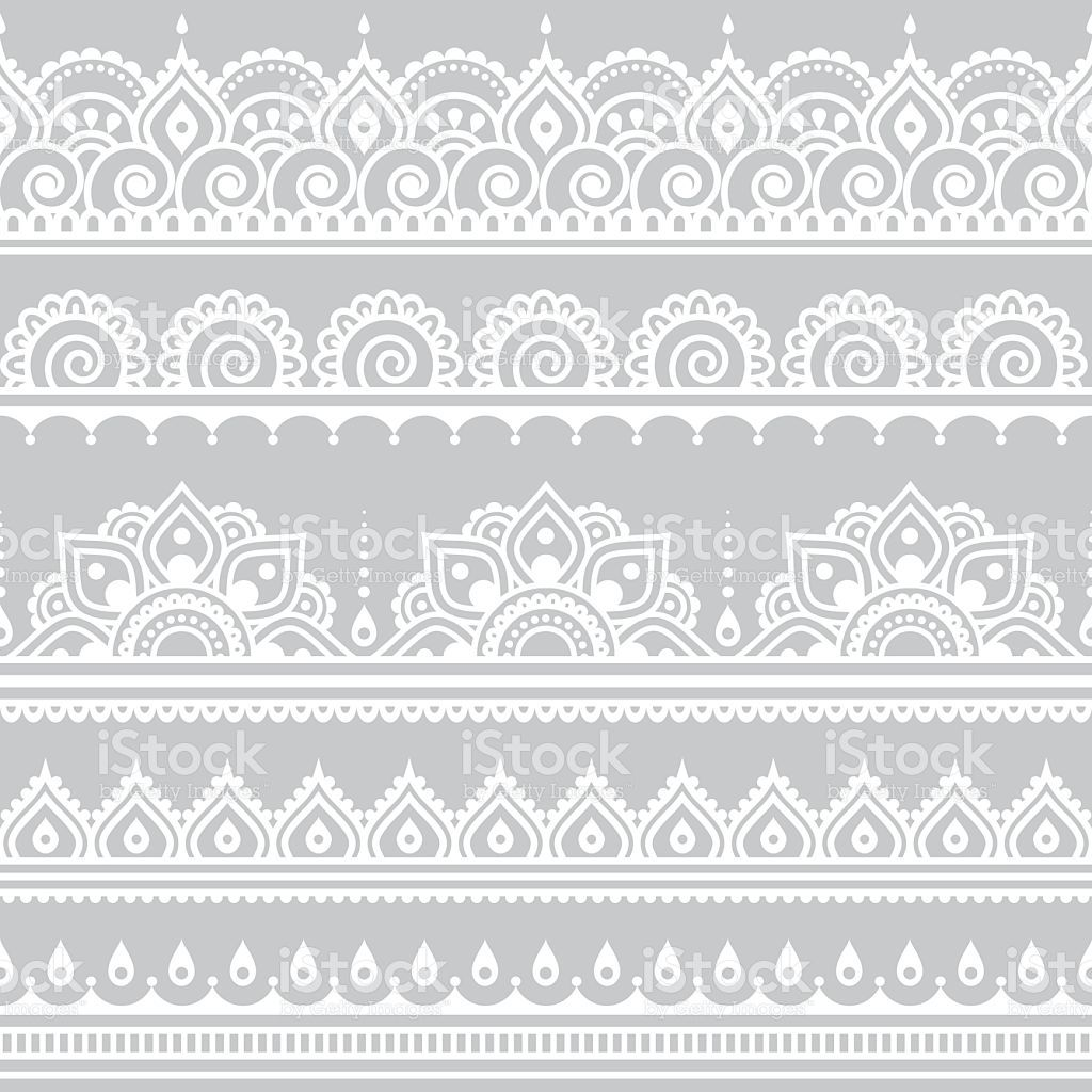 White Mehndi Buy : Repetitive vector ornament orient traditional style on