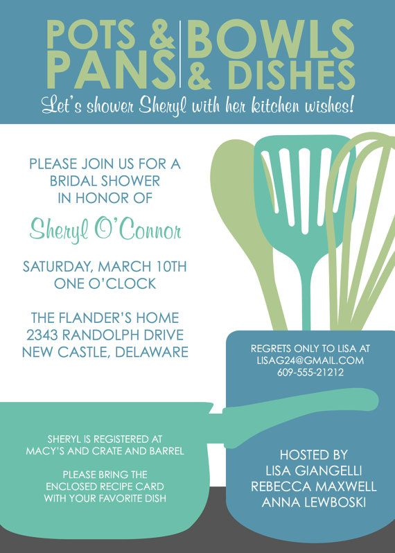 modern kitchen bridal shower invitation design fee by kreativees 1500