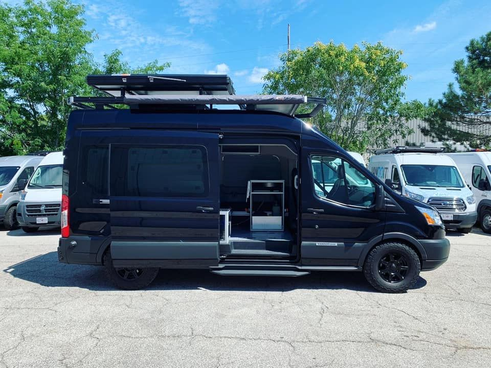 Congrats To Nathan On His Custom Liv Rig With Vandoit Roof Rack Arb Awning Roofnest Solar Power Battery Bank In 2020 Ford Transit Shower Stall Kits Camper Van