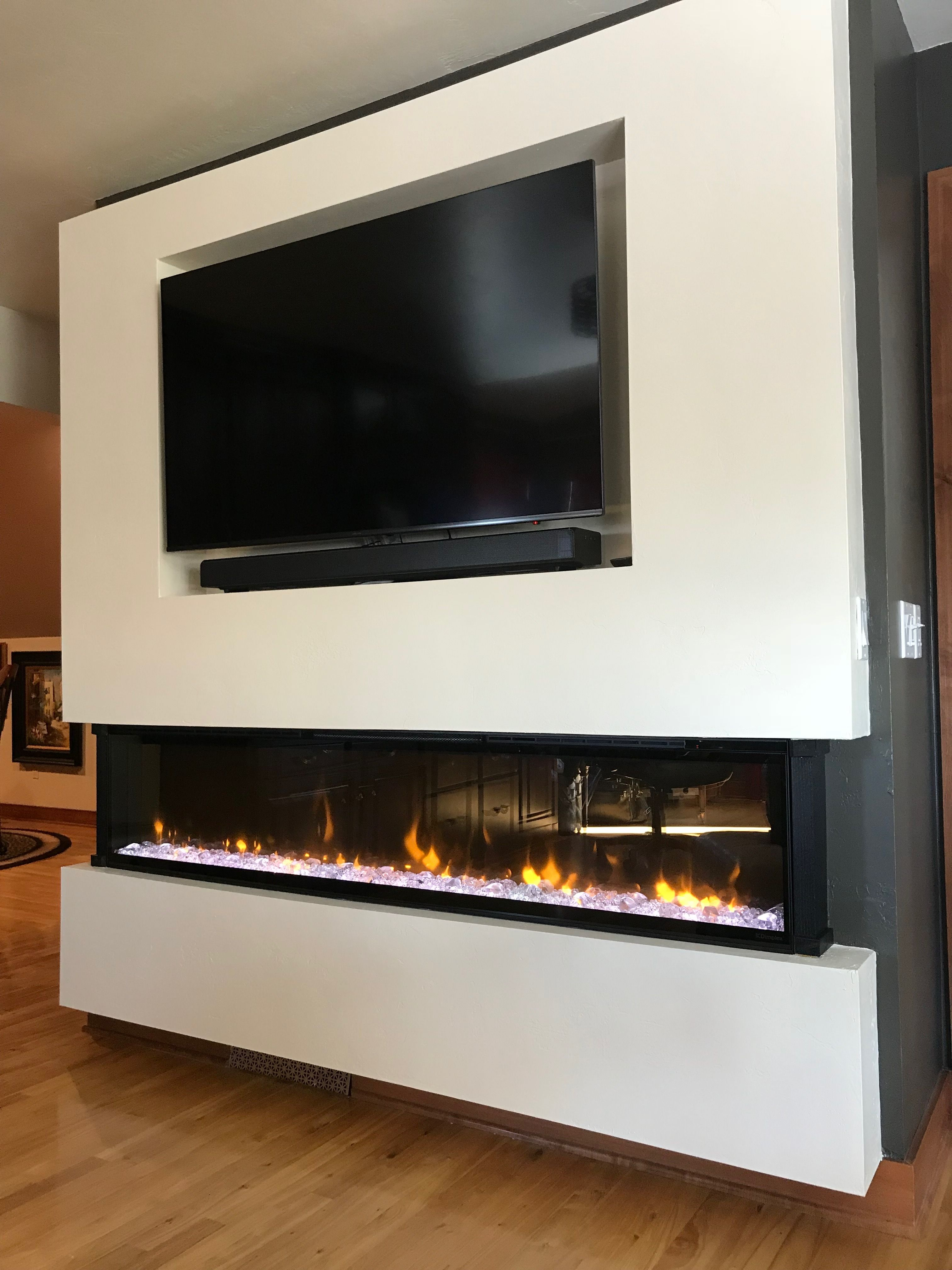 Diy Project Completed Dimplex Xlf74 Linear Electric Fireplace
