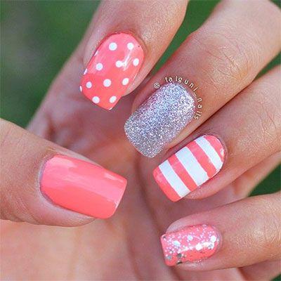20 ideas de diseo de uas de gel preciosos gel nail art 20 ideas de diseo de uas de gel preciosos coral nails prinsesfo Choice Image