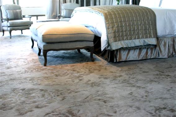 Bespoke Nepalese knotted fitted carpeting - Penthouse One & Only, V Waterfront