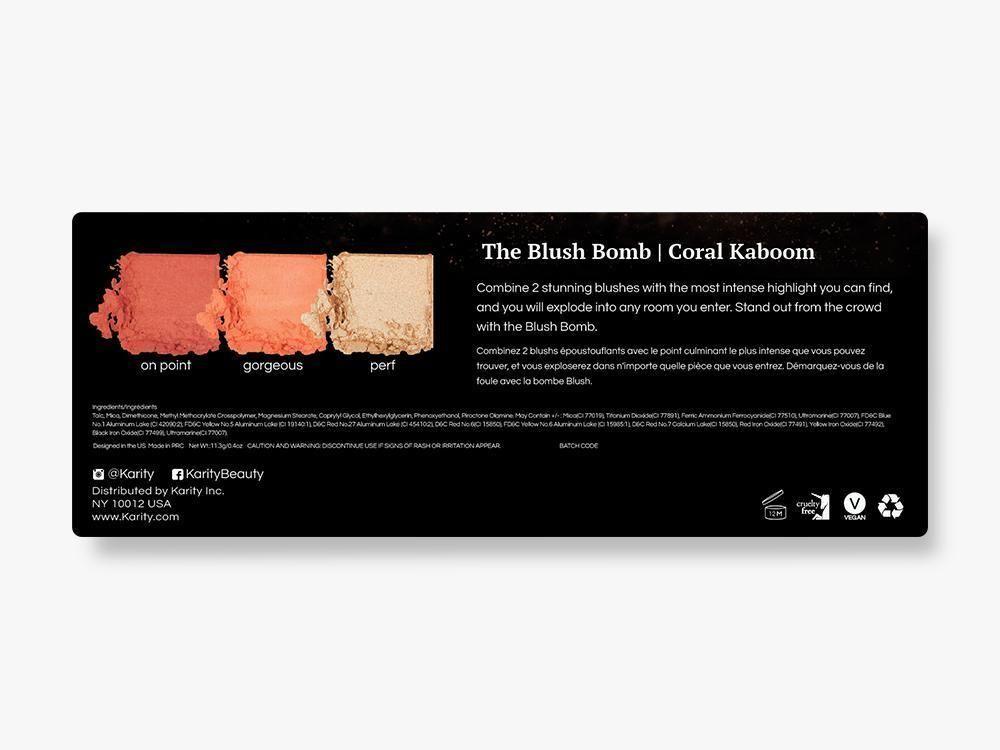 MAKEUP Blush Bomb in Coral Kaboom