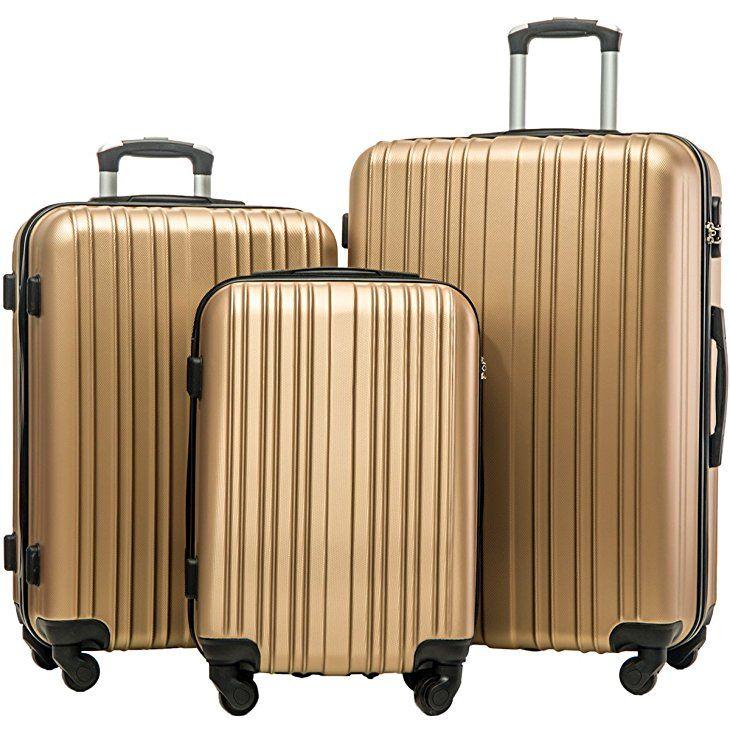 2ac3e0c2c9a Amazon.com | Merax Hylas 3 Piece Luggage Set Lightweight Spinner  Suitcase(Orange) | Luggage Sets