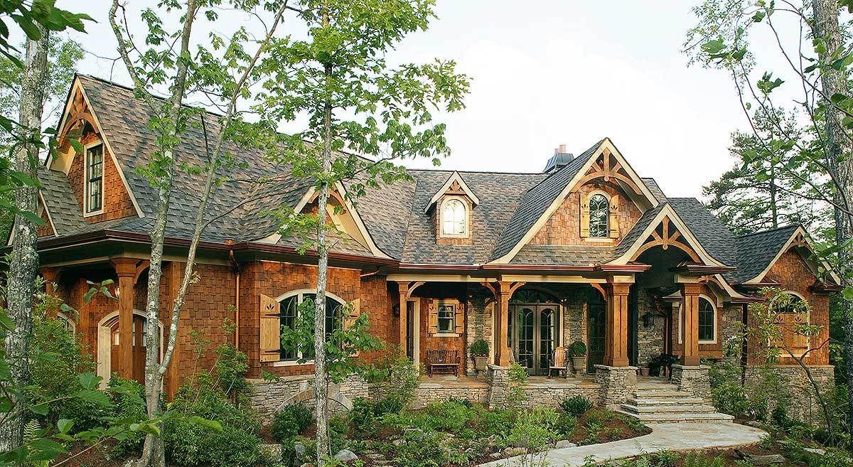 Plan 15651ge Award Winning Gable Roof Masterpiece Craftsman Style House Plans Mountain House Plans Craftsman House