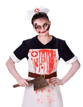 3ac72c4395078 Zombie Nurse Costume Bloody Nurse Outfit for Halloween and Cosplay Scary  Scrub Nurse Uniform #Halloween #Costume #Nurse