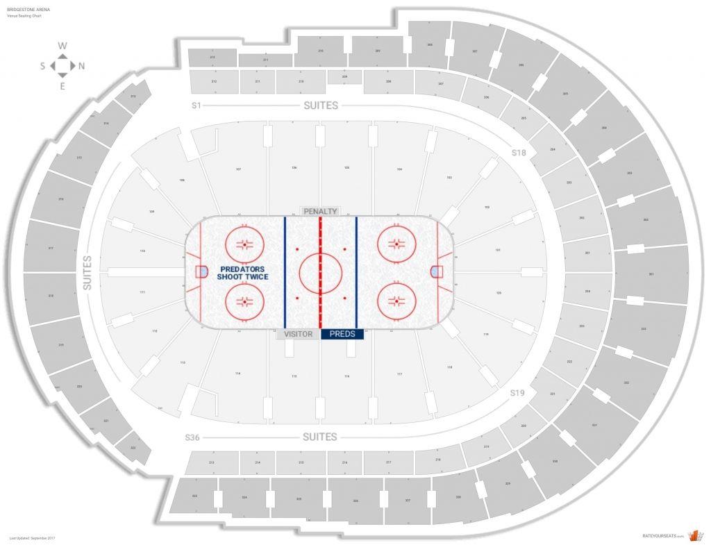 Bridgestone Arena Seating Chart With Rows Di 2020