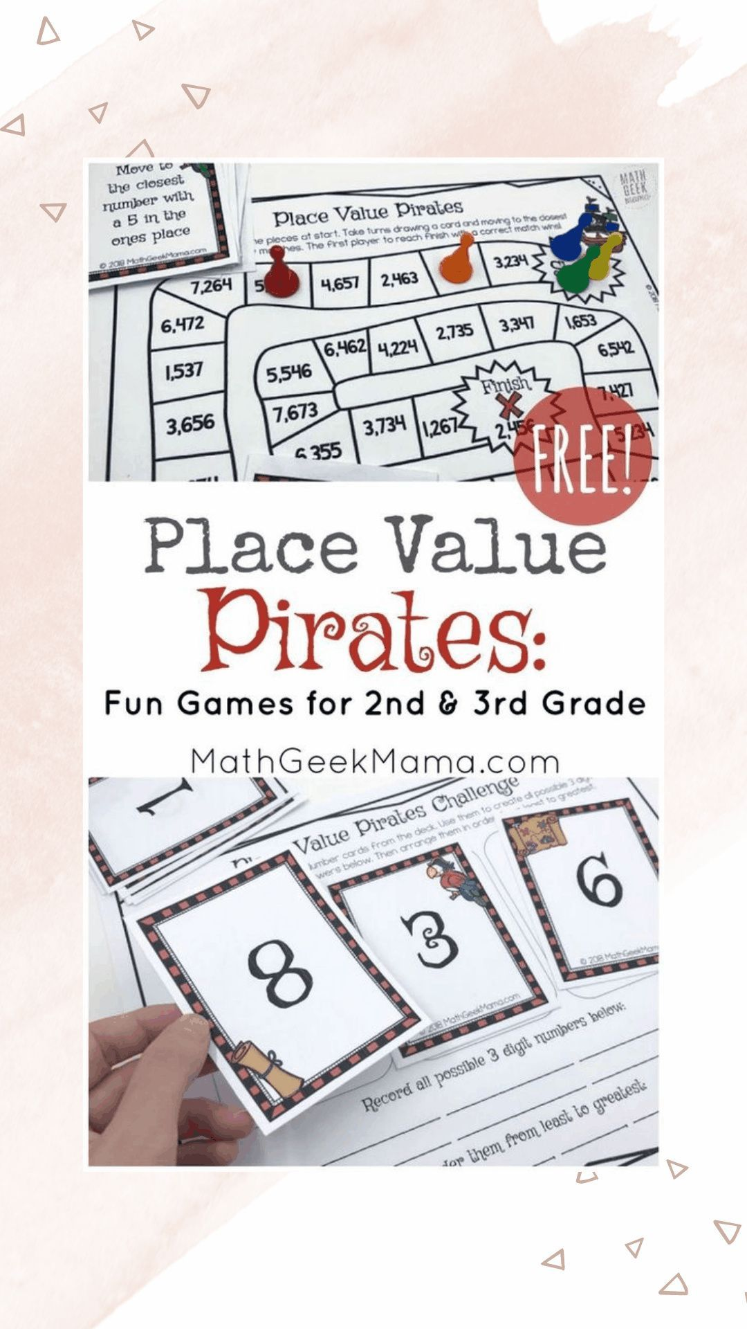 Place Value Pirates Free Printable Math Game In