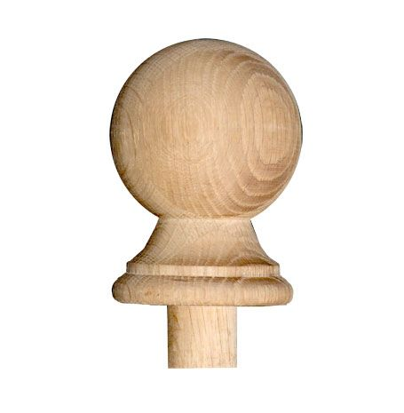 Newel Post Cap Ball Solid American White Oak Stairs