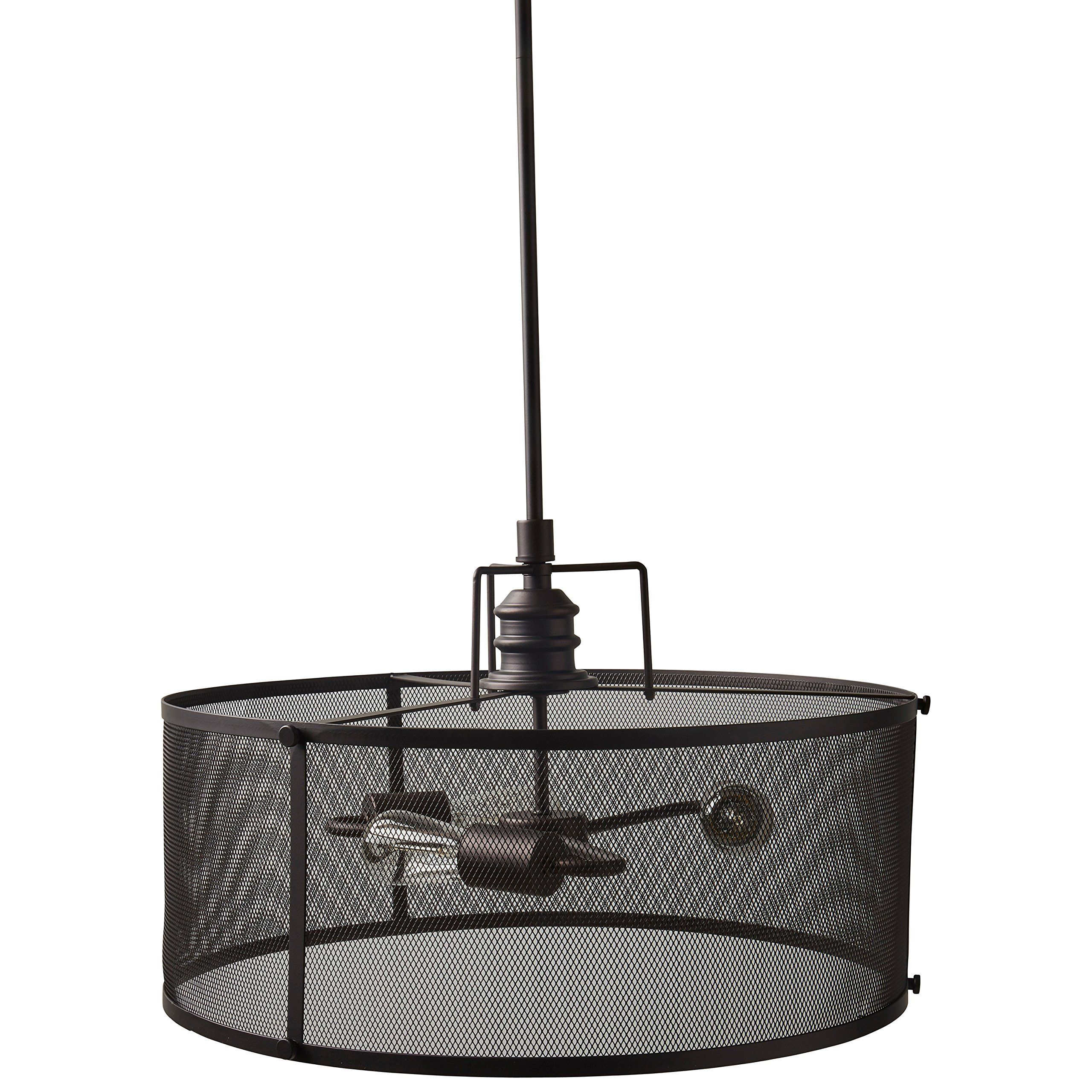 Stone And Beam Hobbs Industrial Light With Bulbs 20 562 5 H Oilrubbed Bronze You Could Locate Even Mo Chandelier Fixtures Dining Room Lighting Cage Pendant