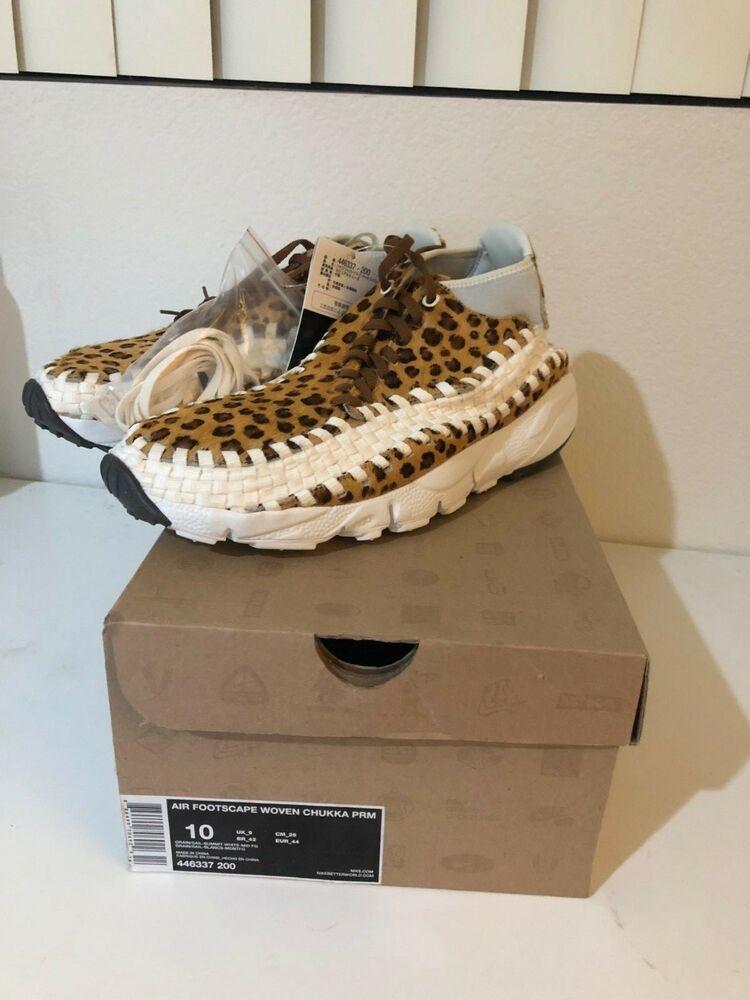 brand new 6a279 a0c10 Nike Footscape Woven Chukka Prm Sz 10 leopard cheetah supreme dunk virgil   fashion  clothing