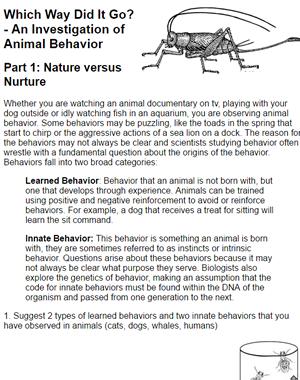 Case Study Investigation Of Animal Behavior Animal Behavior Behavioural Ecology Animals