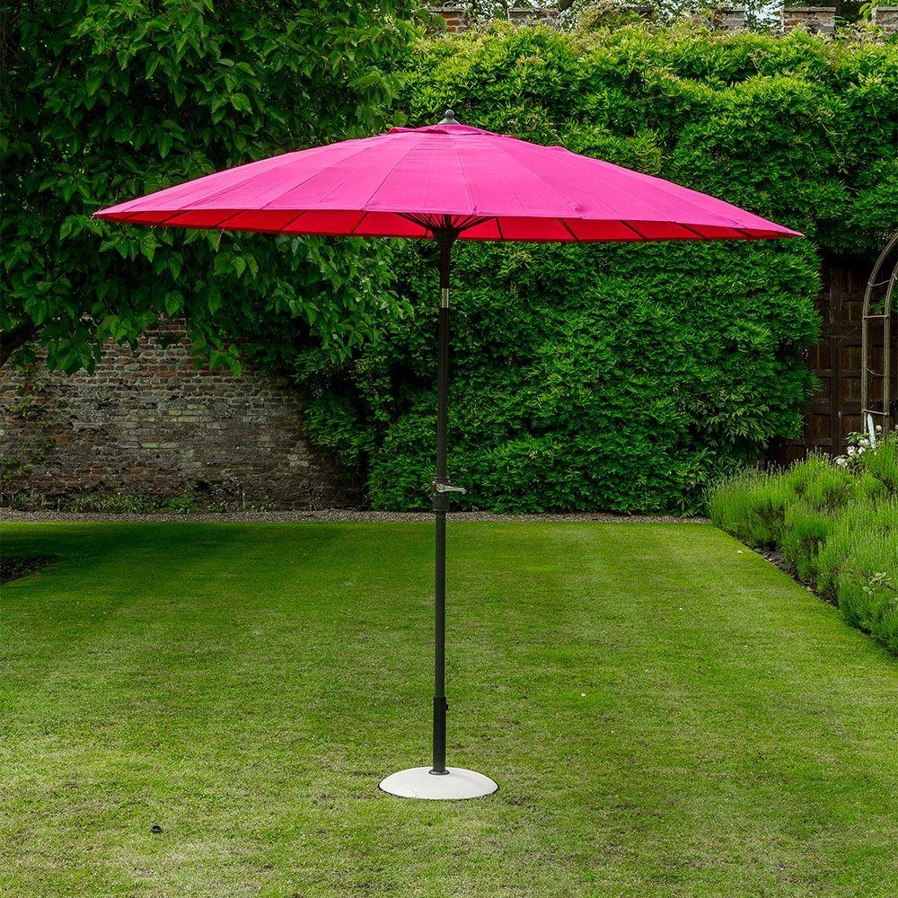geisha garden parasol in fuchsia pink | patios | garden