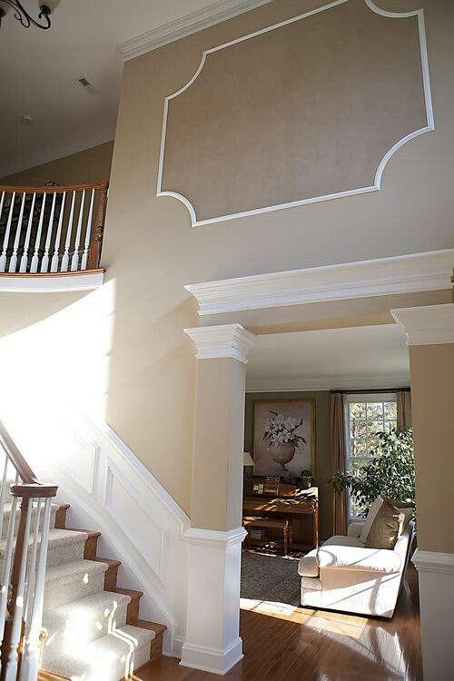 Foyer Trim Design : Foyer shadow box newish home pinterest