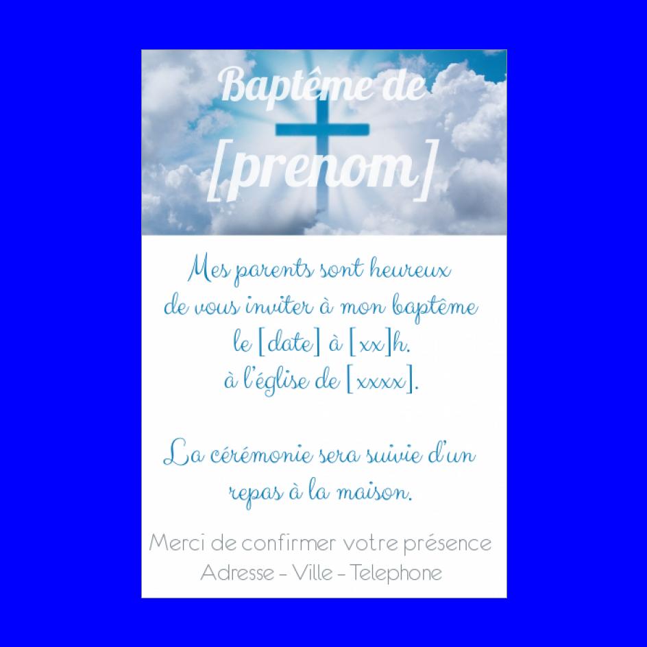 Faire Part De Bapteme A Imprimer Croix Et Ciel Gratuit Faire Part Bapteme Carte Envellope