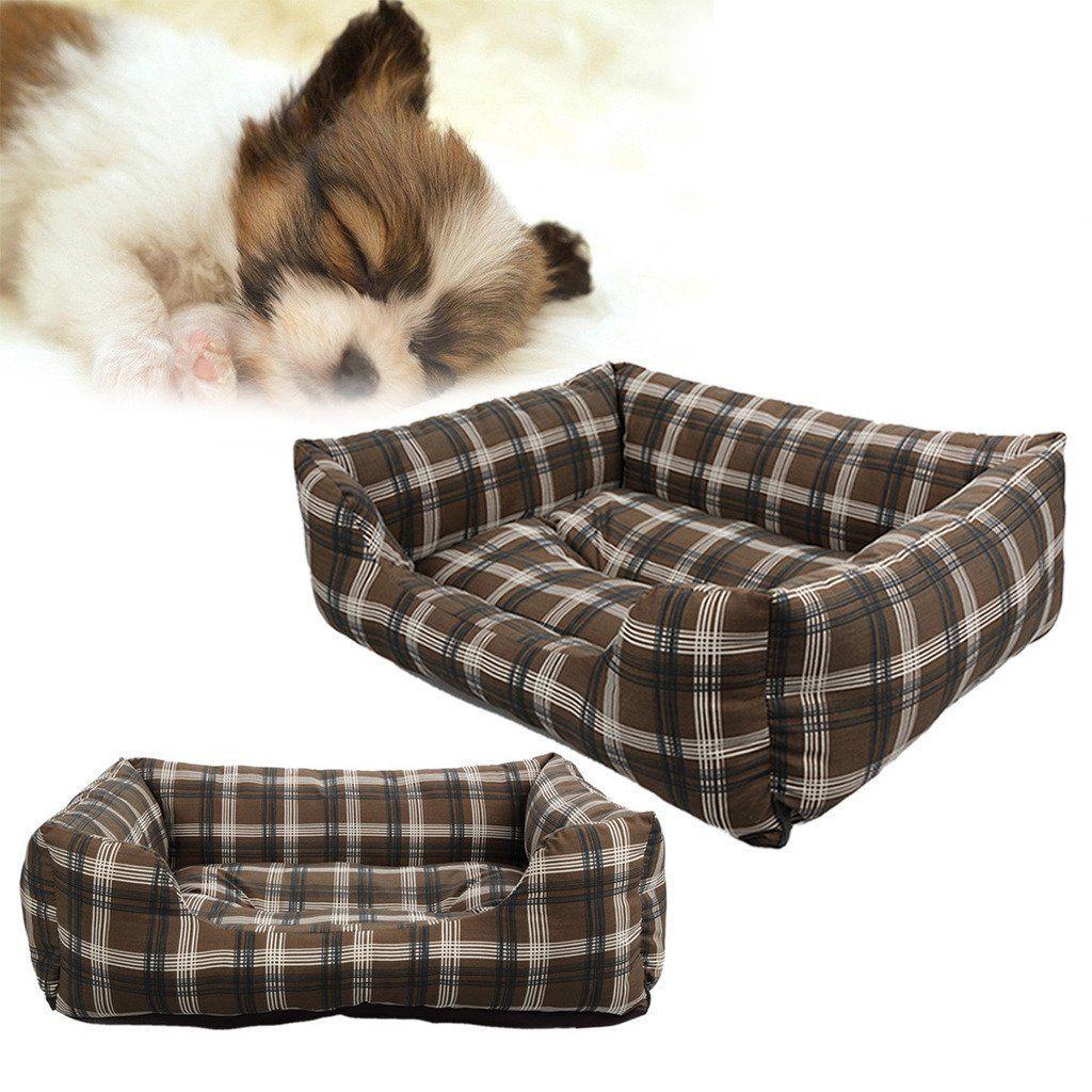 SymbolLife Soft Washable Dog Cat Pet Bed Cushion Rectangle