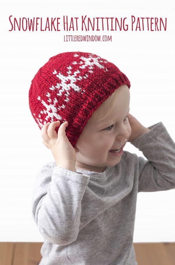 Fair Isle Snowflake Hat Knitting Pattern | Stricken für baby ...