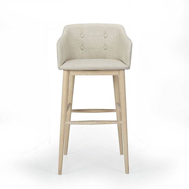 Cork Tabouret haut capitonné beige cuisine Pinterest Bar and