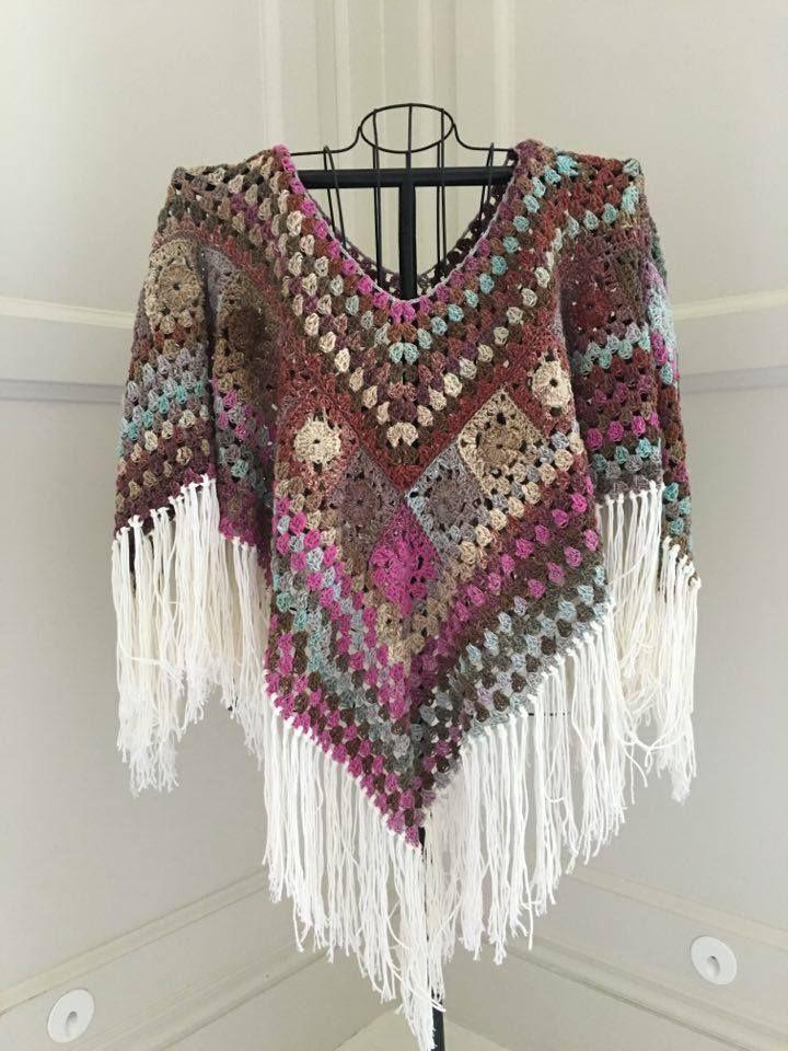 Crochet poncho tutorial 1 design peak.