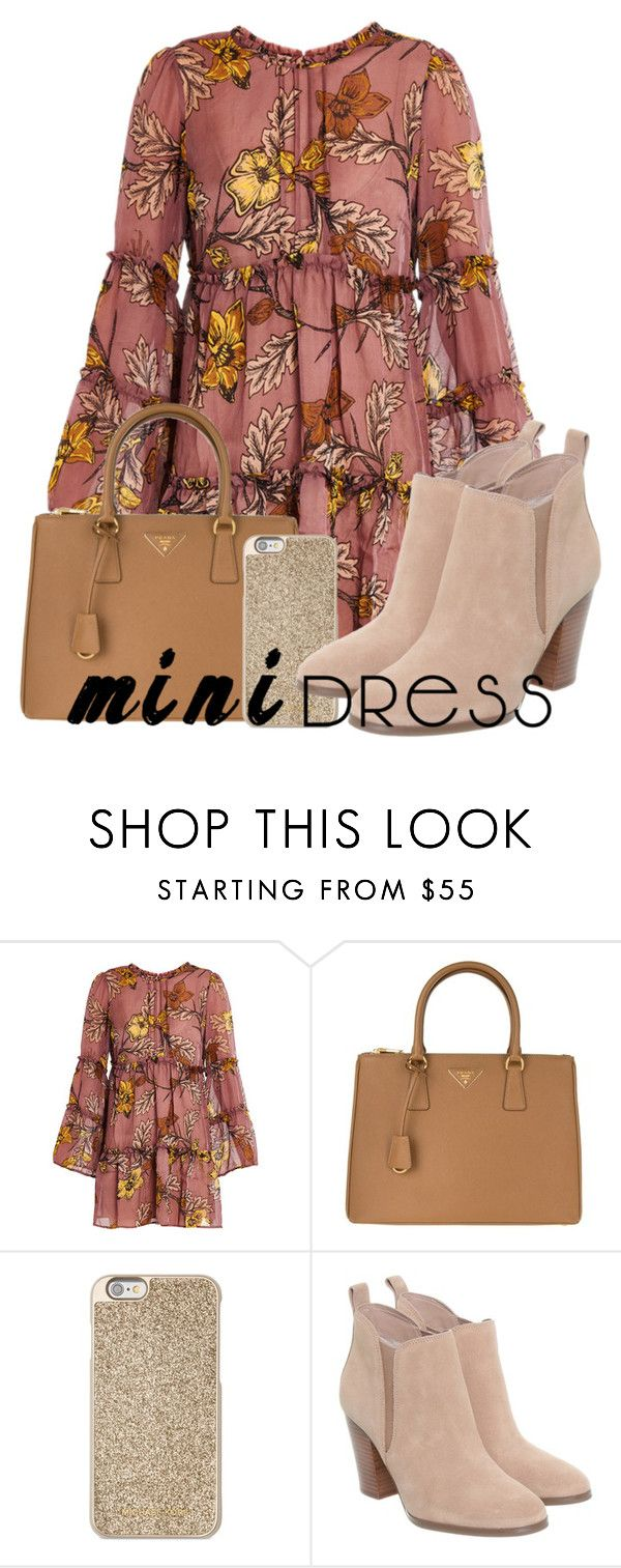 """Mini for the holidays"" by francenefashion ❤ liked on Polyvore featuring For Love & Lemons, Prada and Michael Kors"