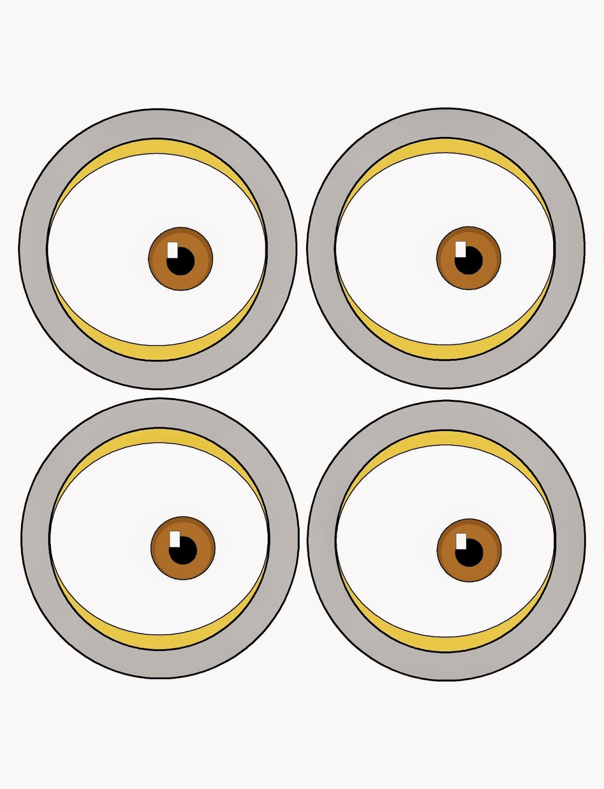 This is an image of Candid Minions Printable Eyes