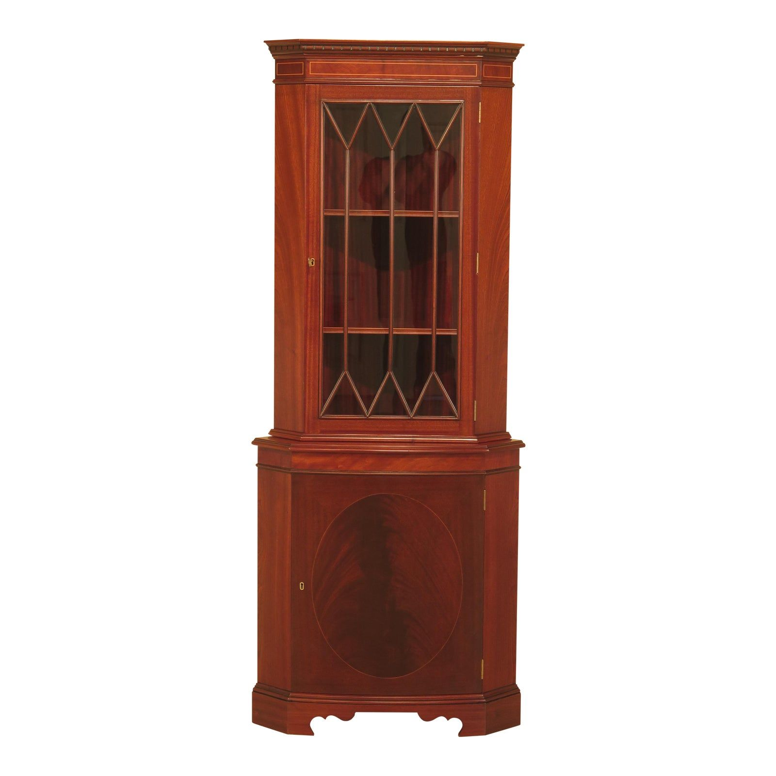 Bevan Funnell English Mahogany Corner For Sale
