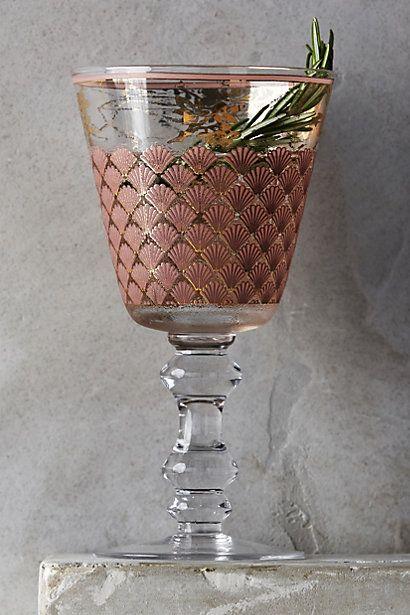 Green stemware vintage glass