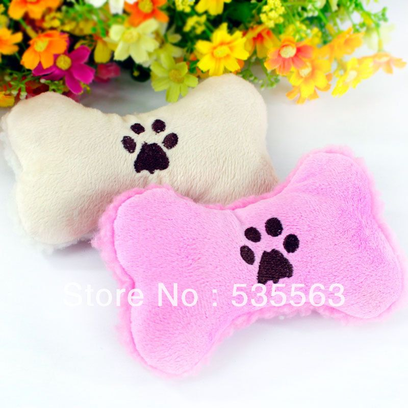 New Dog Squeaky Toy Cute Bone Plush Toy For Mini Small Medium Dogs