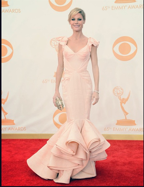 Emmy magic! #zacposen #JulieBowen #glamourgowns