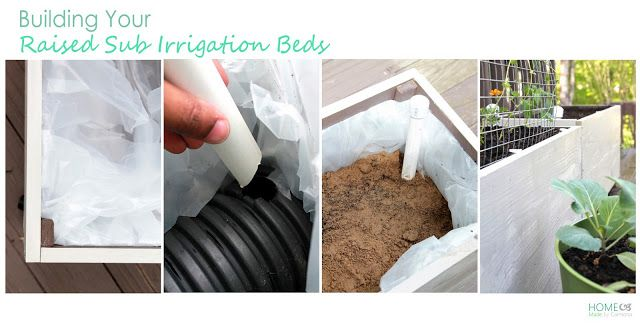 How to build a raised self-watering bed