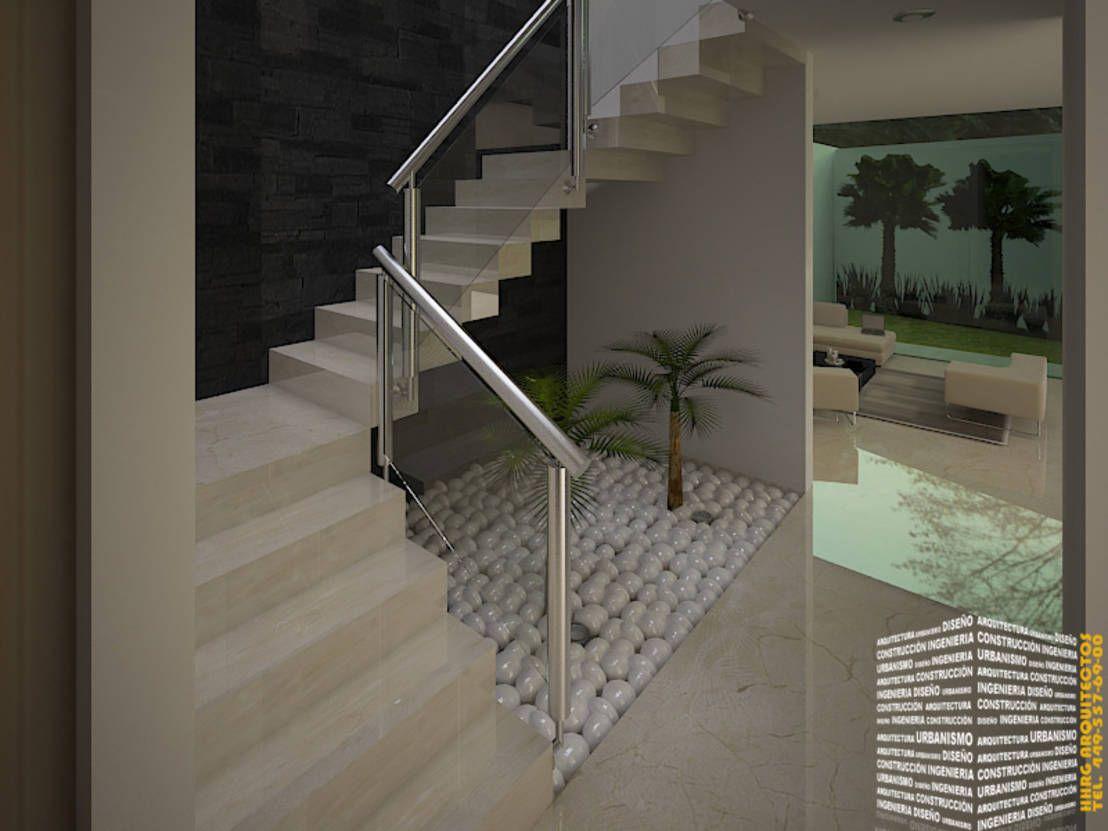 Escalera con piedras bola de hhrg arquitectos escalera - Jardineras en escalera ...