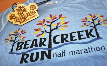 Participant swag from the Bear Creek Run Half Marathon in ...