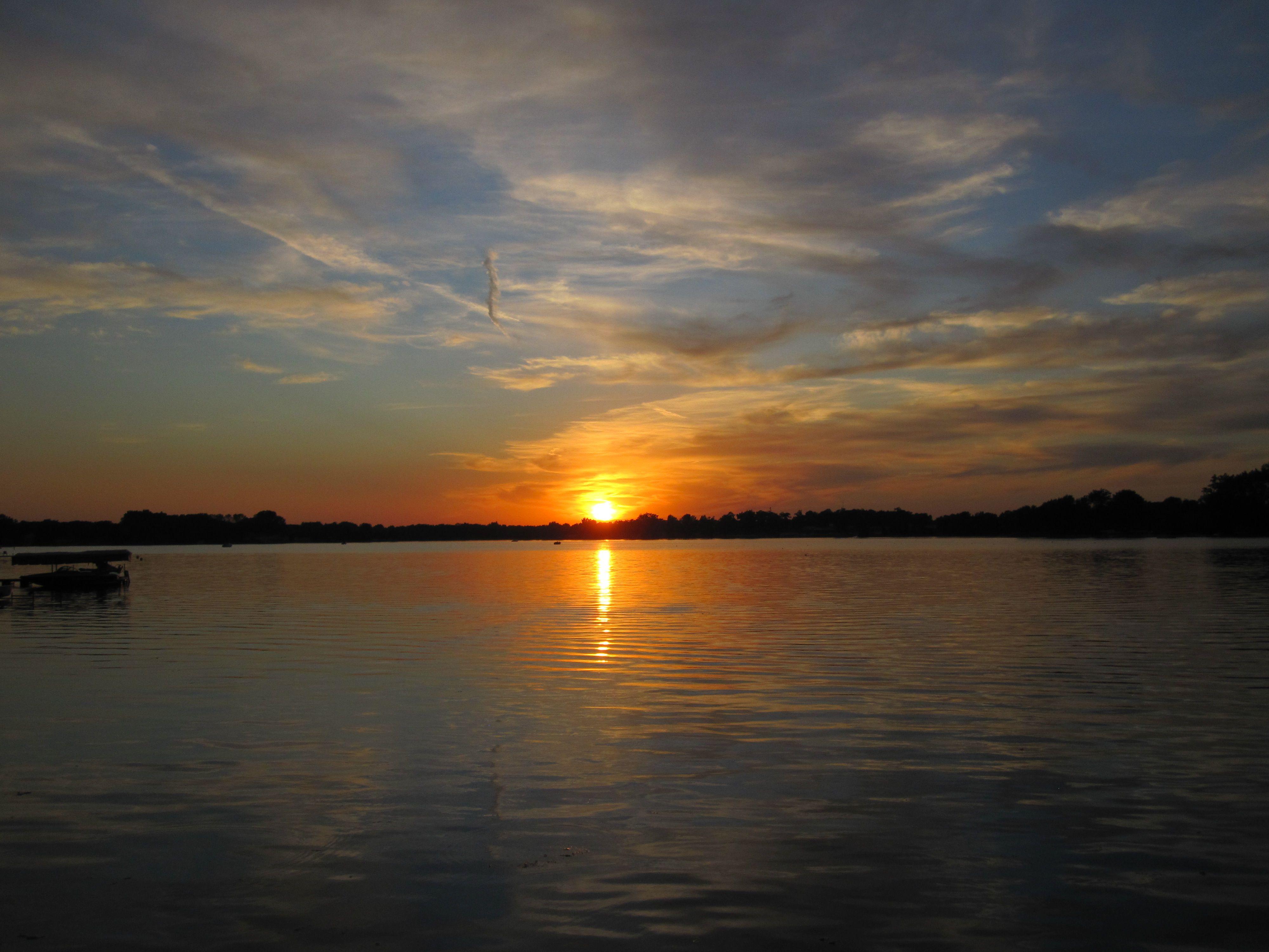 Sunset at Winona Lake, Indiana