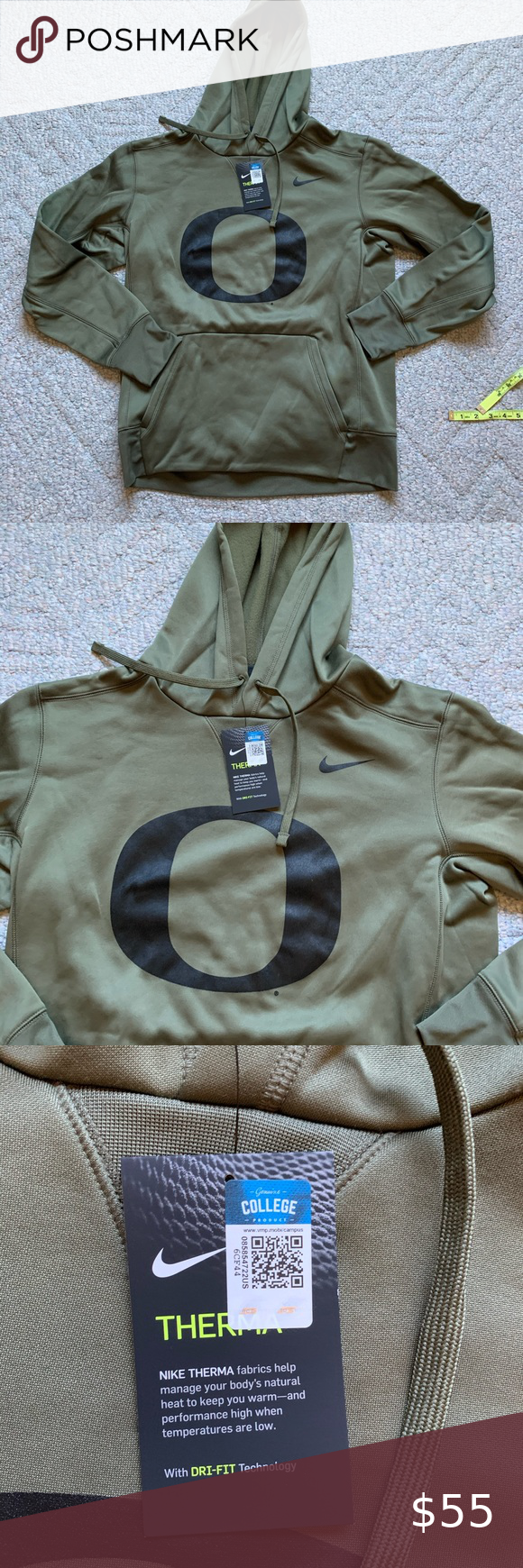 Nike Oregon Ducks Therma Hoodie Sweatshirt Sweatshirts Hoodie Branded Sweatshirts Hoodies [ 1740 x 580 Pixel ]