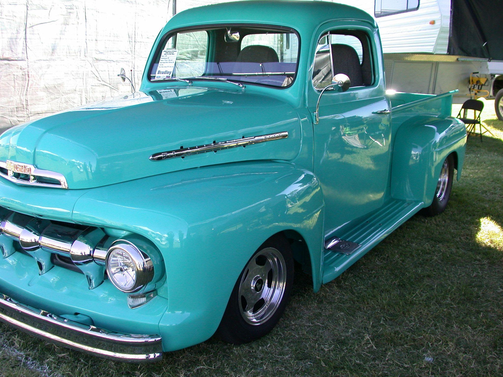 1951 Ford F100 Our 1st Classic I Think Your Right Its A Flathead V8 But Im Still Not Certai Classic Cars Trucks Ford Pickup Trucks Custom Chevy Trucks