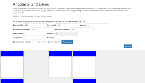 Angular 2 Grid  A drag/drop/resize grid-based plugin