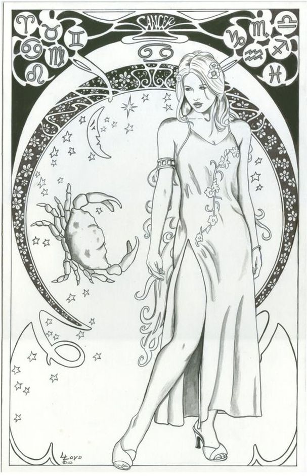 cancer difficult coloring pages of zodiac signs if youre looking