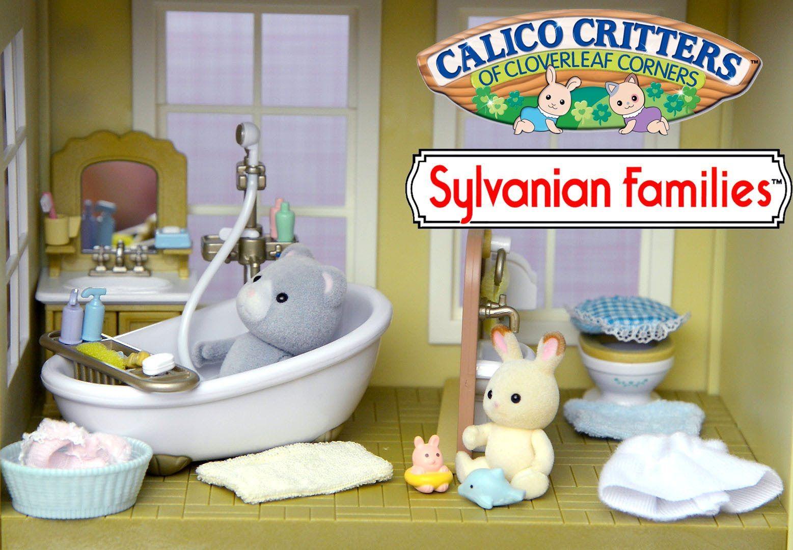 Sylvanian Families Calico Critter Country Bathroom Set