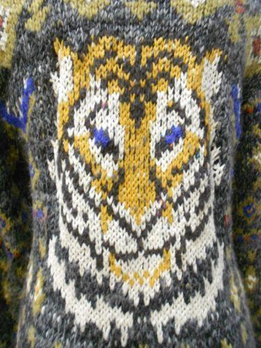 """NEW Free People """"Tiger Oversized Cardigan"""" Jacquard Knit Loose Fit Cardigan Sz L"""