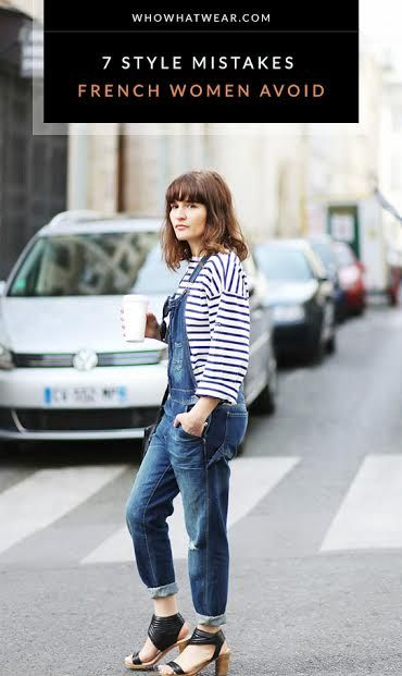 93f58123f Learn a thing or two from French style.     fashion  style.  Who What Wear  - The 7 Style Mistakes French Women Never Make.