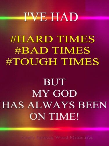 he s an on time god words spiritual quotes