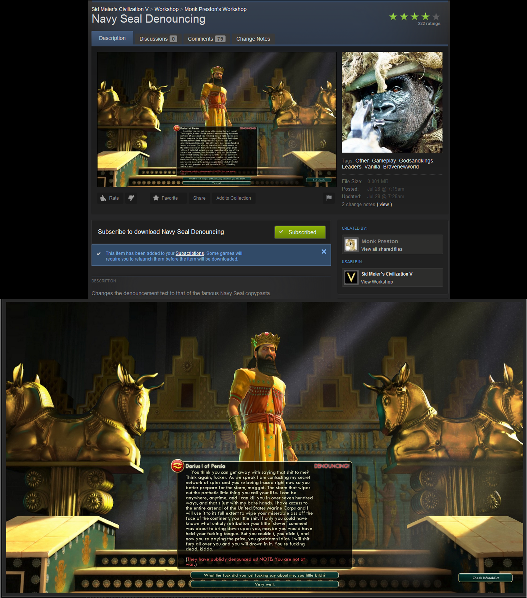 Must have Civ 5 Mod #funny   Civilization 5   Funny pictures, Funny