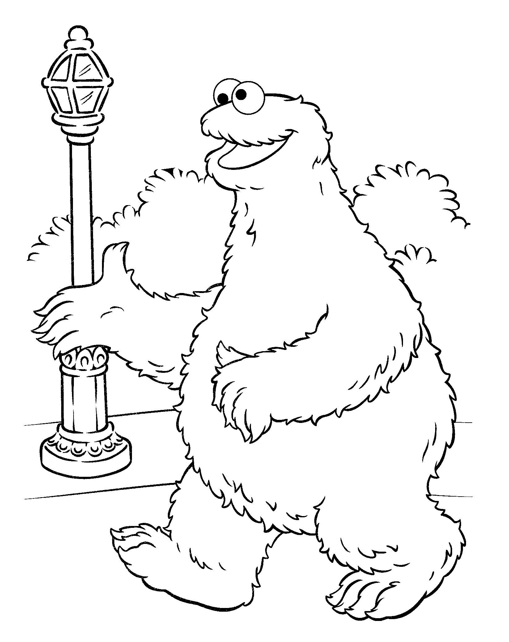 Cookie Monster (Coloring Pages) (With images) Monster