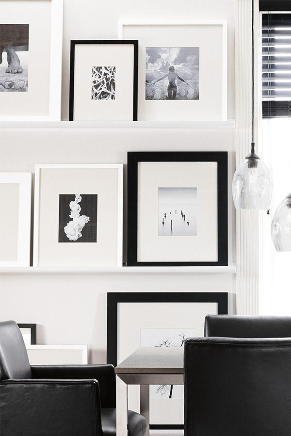 Learn how to create a modern frame wall in 4 easy steps. | Create a ...