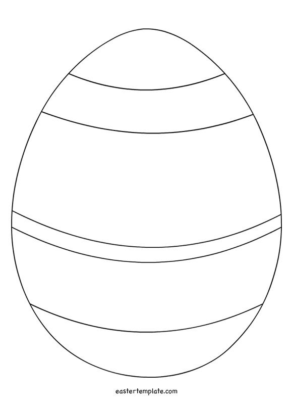 Striped Easter Egg Template Easter Template Easter Egg Template Easter Egg Pattern Easter Egg Coloring Pages